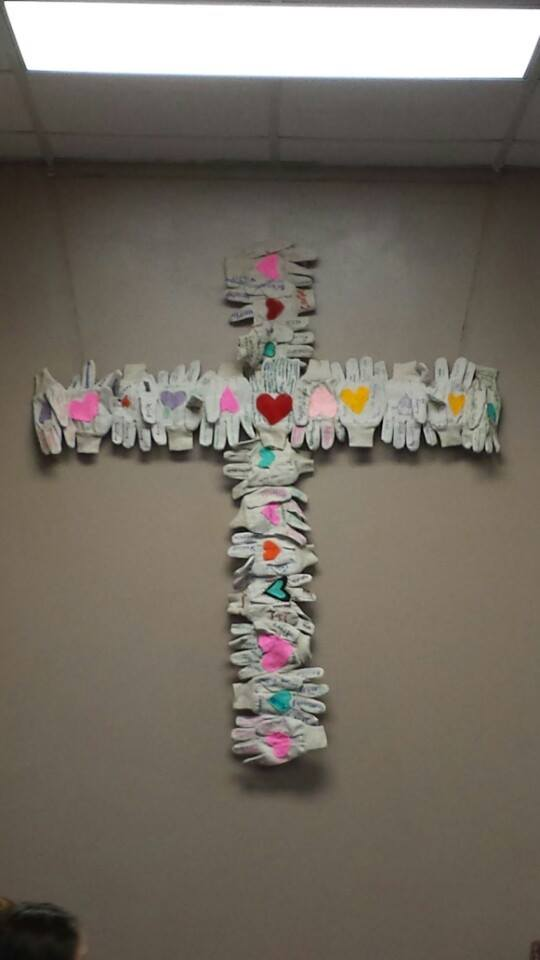 This is a cross the youth made on a retreat