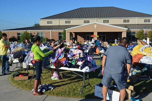 Here is a shot from the yard sale. Check out several more photos on our Facebook page.