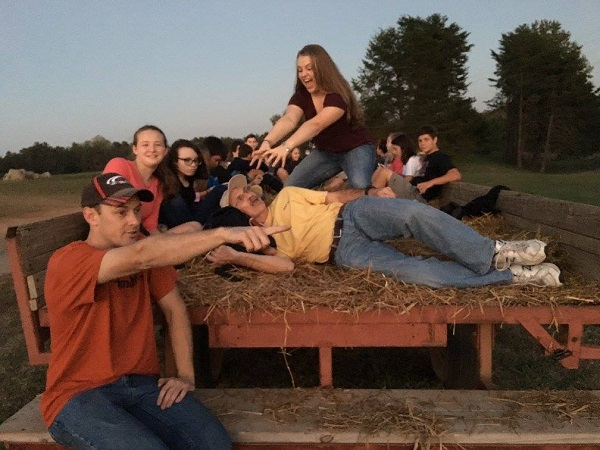 The McGill Youth had a lot of fun on the recent outing at Carrigan Farms.